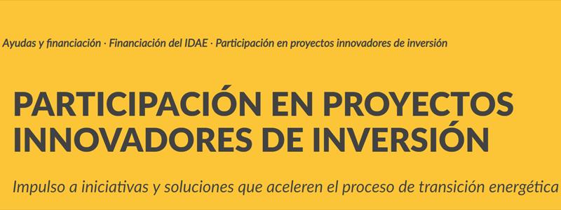 Anuncio de la reactivación de inversiones en proyectos innovadores.