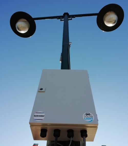Sistema VolumLightTM instalado en las luminarias de una de las avenidas de Alcoy (Alicante).
