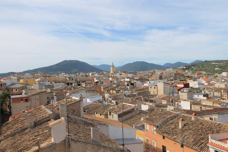 Vista panorámica de Bullas (Murcia).