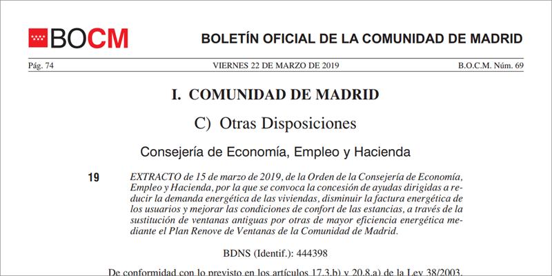 El plazo de presentación de solicitudes será desde el 15 de abril de 2019 y hasta el 31 de diciembre de 2019.