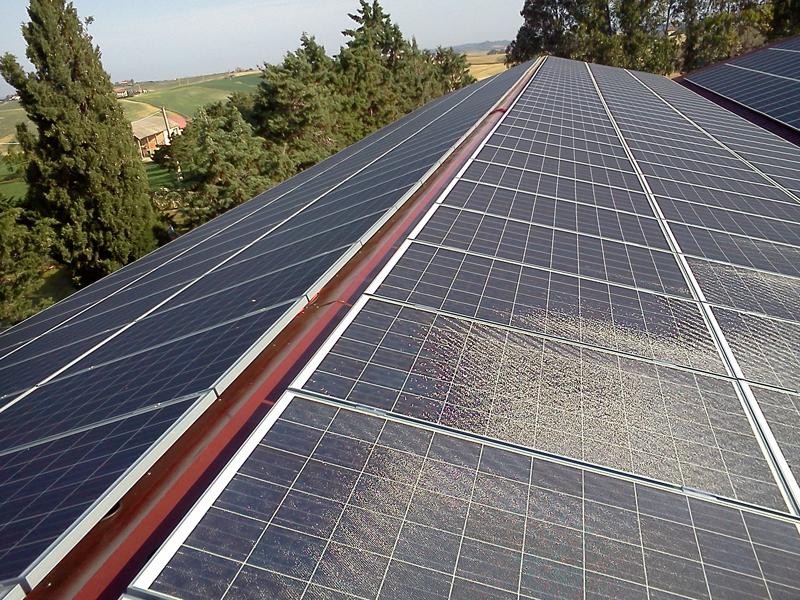 Placas solares sobre cubierta