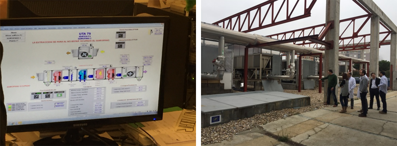Monitor pc con sistema de control de UTAS.