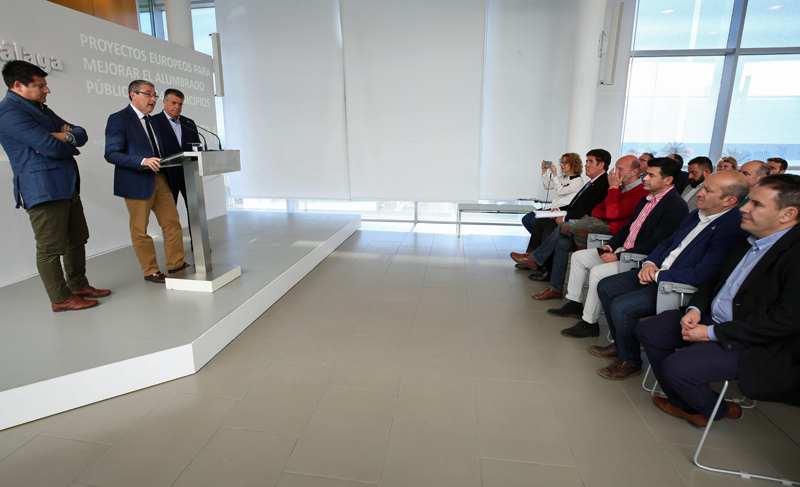 Acto de presentación de la Diputación de Málaga