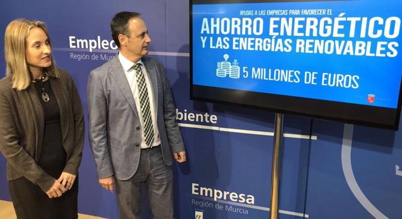 Presentación de las ayudas para favorecer el ahorro energético y las energías renovables en el tejido empresarial de Región de Murcia.