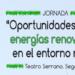 Jornada gratuita sobre oportunidades de las energías renovables en el entorno rural de la Comunidad Valenciana