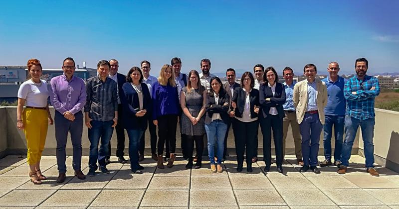 Participantes en la reunión del proyecto eTEACHER celebrada en Málaga.