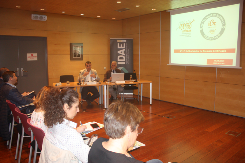 Presentación en el IDAE del Sello Instalador de Biomasa Certificado.