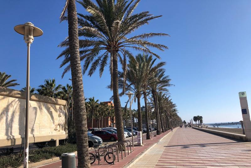 Zonas marítimas urbanas de Almería.