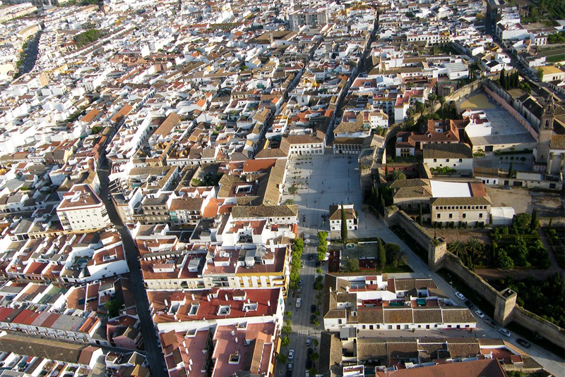 Vista aérea de Palma del Río.