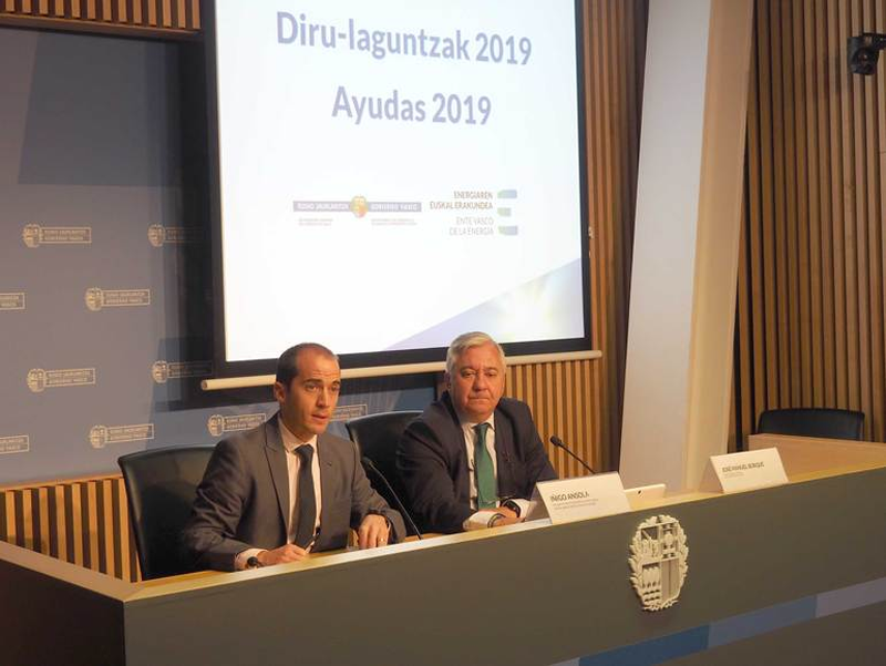 Presentación de las ayudas para el uso racional de la energía y el aprovechamiento de fuentes renovables en Euskadi.