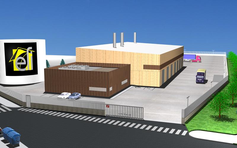 Proyecto de central de calor con biomasa de Txantrea.