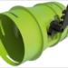 Regulador de caudal con palanca de Siber para mejorar la distribución de aire en pequeños edificios