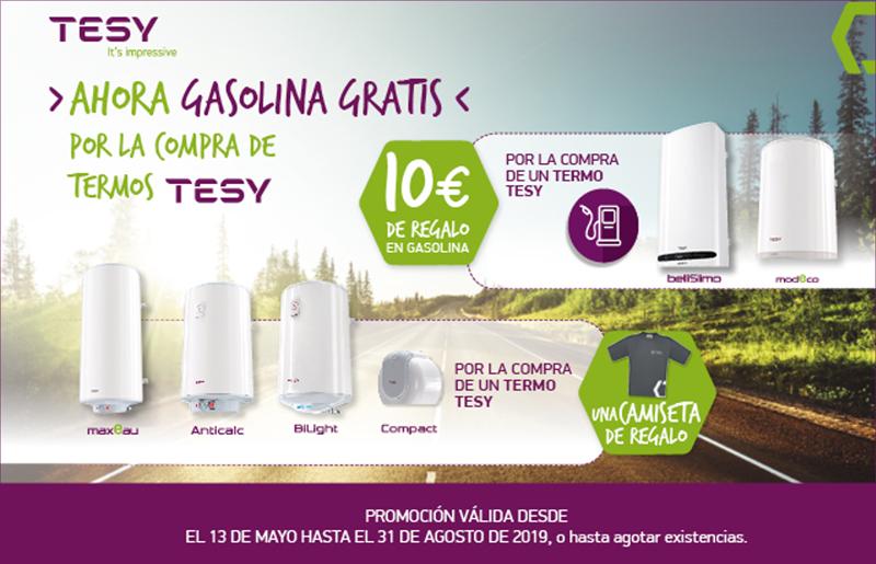 Anuncio de la campaña promocional de TESY para instaladores por la compra de termos BelliSlimo y Modeco.