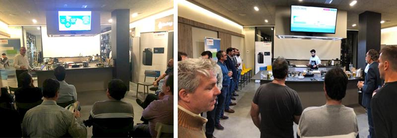 """Instantáneas de la jornada de Bosch Termotecnia """"Soluciones HVAC para edificios residenciales y comerciales"""" celebrada el 29 de mayo en Zaragoza."""