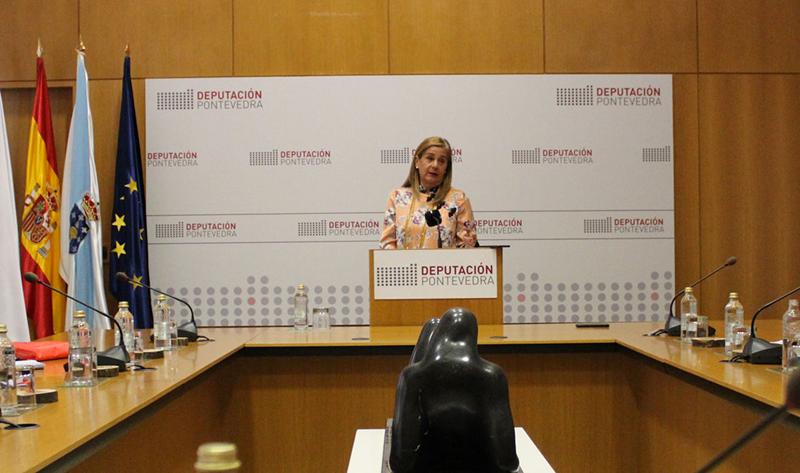 La presidenta del Consejo Comarcal de Pontevedra, Carmela Silva