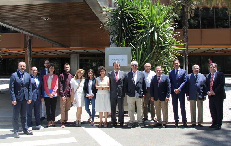 Participantes en la reunión de la Junta Directiva del Clúster Smart City en la sede de Endesa en Sevilla.
