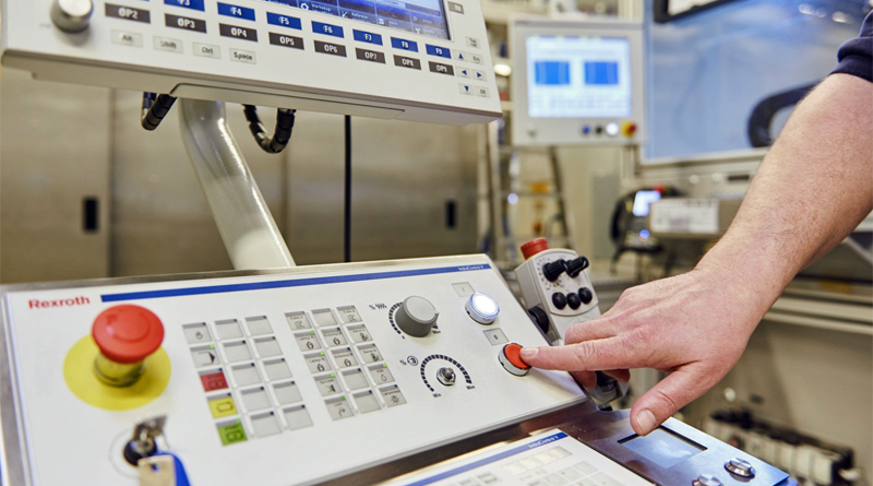 Máquina en una fábrica de Bosch en Alemania