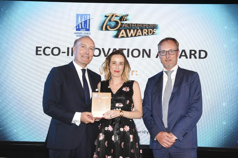 Entrega del premio Eco-innovation al Aeropuerto de Menorca.