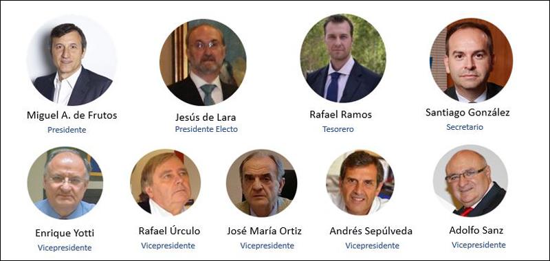 Órgano de Gobierno de Ashrae Spain Chapter para 2020