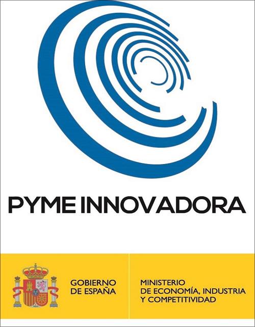 Sello Pyme Innovadora otorgado por el Ministerio de Ciencia, Innovación y Universidades.