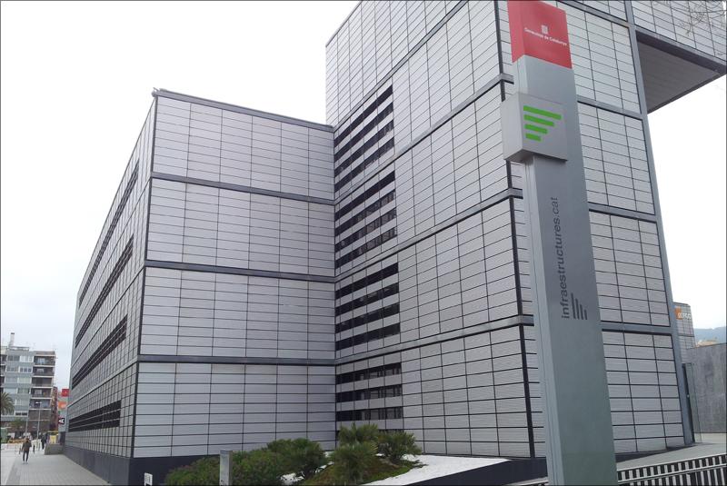 Sede de Infraestructures.cat, empresa pública encargada del diseño de la Estrategia de Servicios Energéticos para equipamientos e infraestructuras de la Generalitat de Catalunya.