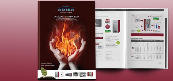 Catálogo 2019 de Adisa Heating.