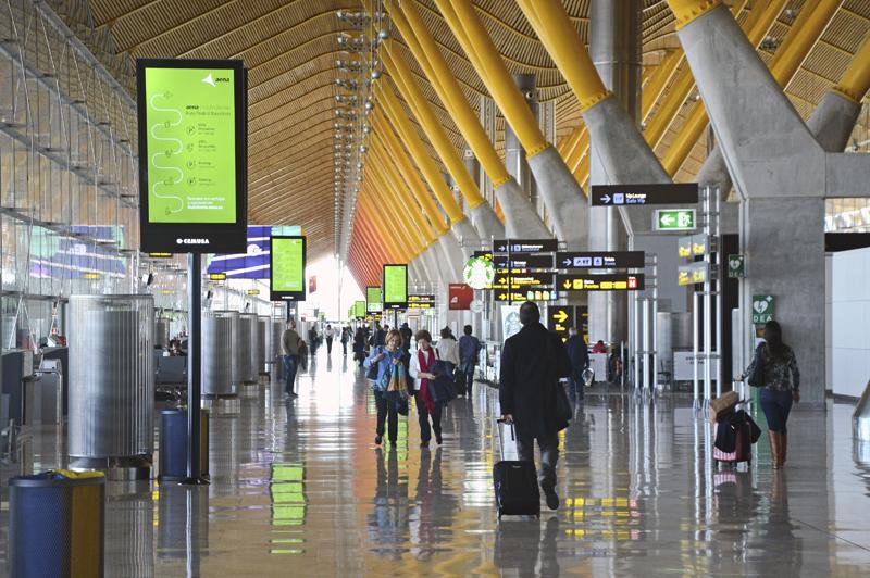 Aeropuerto Madrid-Barajas.
