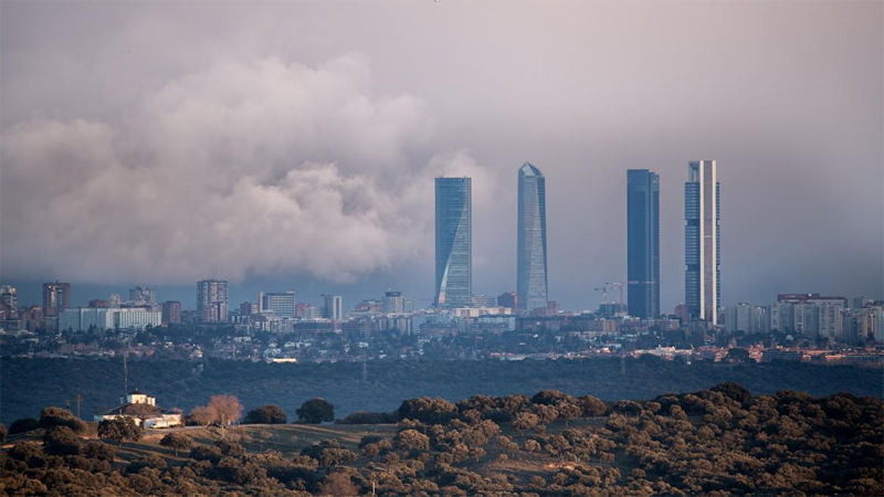 Skyline de Madrid.