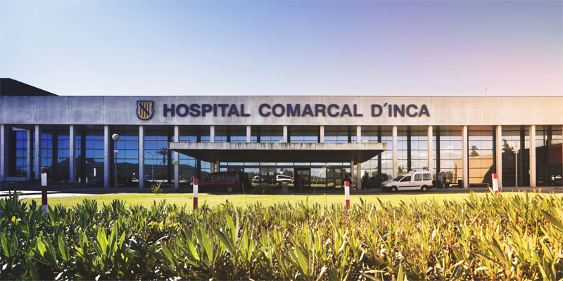 Fachada del Hospital Comarcal D' Inca, en Islas Baleares.