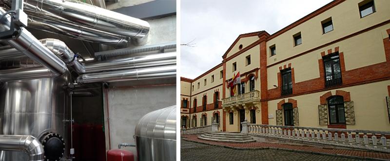Se trata de una red de distribución de calor a través de energía térmica en el recinto de la Consejería de Presidencia de la Junta de Castilla y León