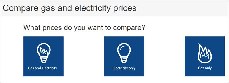 Imagen del comparador de electricidad y gas con el que trabaja el alcalde de Londres.