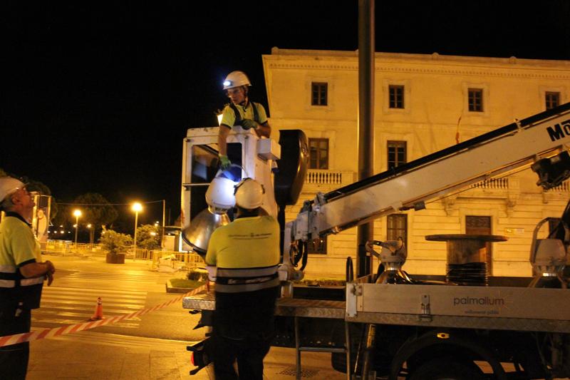 El Ajuntament de Palma ha instalado este año 3.501 luminarias Led que evitan la emsión de 288,76 toneladas de CO2 durante 2019.