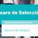 Tríptico Software de Selección «Bosch Air Select»