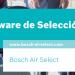 """Tríptico Software de Selección """"Bosch Air Select"""""""
