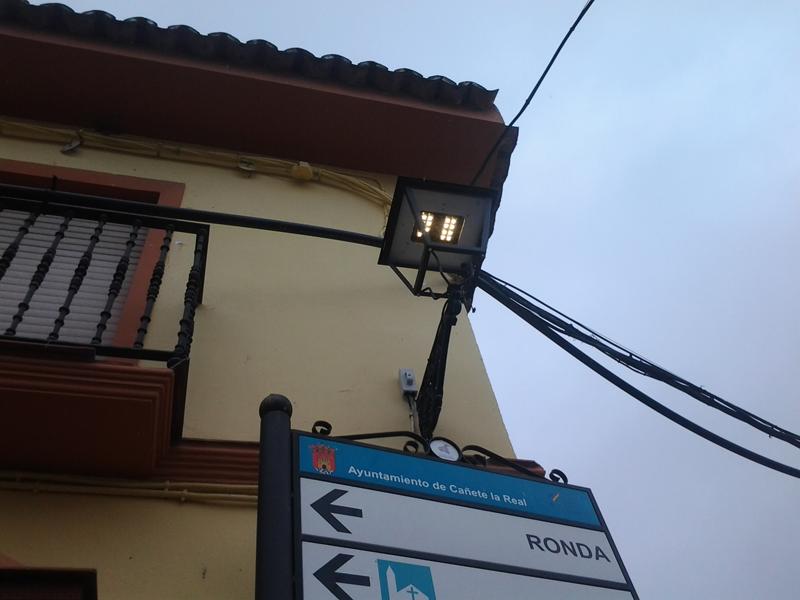 Renovación de luminarias en municipios de Málaga.
