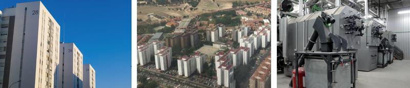 Uno de los casos reales de estudio se encuentra en España. En concreto, se trata de la renovación del distrito de Torrelago, un proyecto que involucra 31 edificios residenciales privados con 1.488 viviendas. Las principales medidas de energía implementadas a escala del edificio son el aislamiento externo de los edificios (sistema compuesto-ETICS, fachada ventilada), conexión a la calefacción urbana (doce nuevas subestaciones de intercambio de calor a nivel del edificio), medición individual para aumentar la conciencia de los usuarios.