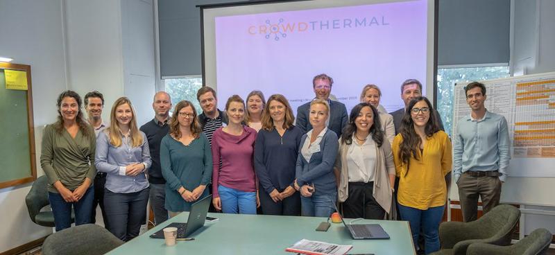 Miembros del consorcio del proyecto Crowdterhmal en la reunión celebrada el 25 y 26 de septiembre.