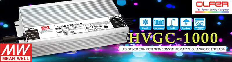 Serie HVGC-1000 LED Drivers de Mean Well.