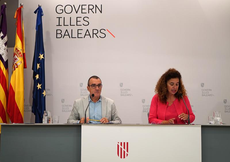 Rueda de prensa posterior al Consejo de Gobierno de Islas Baleares.