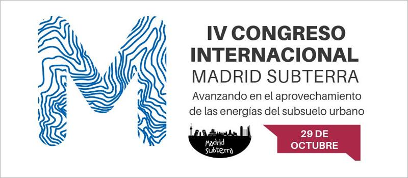 Anuncio del IV Congreso Internacional de Madrid Subterra el 29 de octubre de 2019 en Madrid.