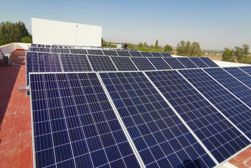 Instalación solar fotovoltaica sobre la cubierta del hogar de acogida de la Comunidad Onuva.