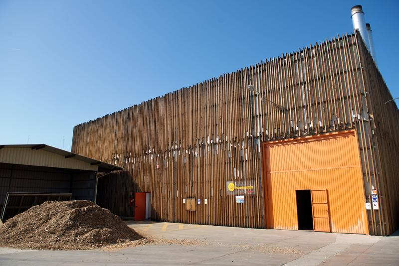 Central de calor con biomasa Móstoles Ecoenergía.