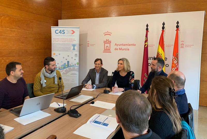 Reunión del proyecto europeo 'Compete4SECAP en el Ayuntamiento de Murcia.