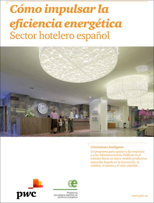 Documento de PTE-ee titulado Cómo impulsar la eficiencia energética en el sector hotelero español.