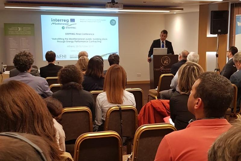 La Diputación de Huelva, junto al resto de socios del proyecto europeo Stepping, participó en la clausura y conferencia final celebrada en Atenas.