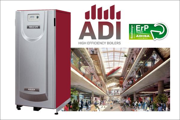 Calderas ADI LT 650 de Adisa Heating. Centro comercial X-Madrid.