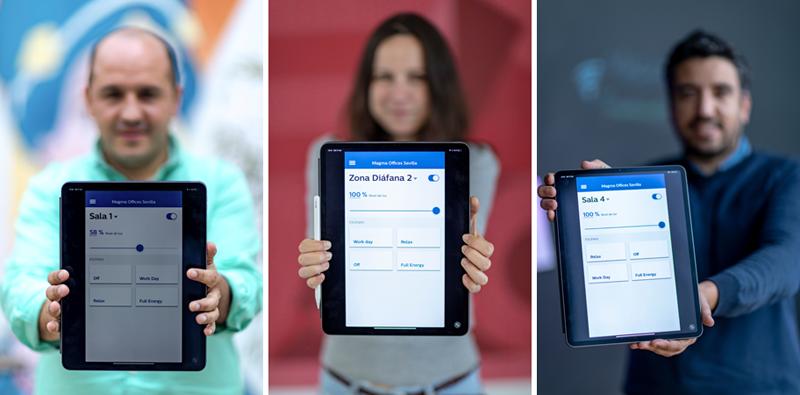 Empleados. Aplicación. Tablet.