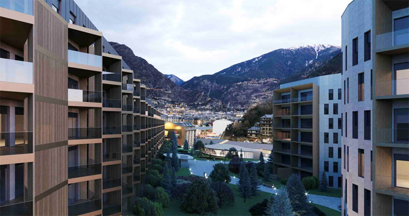 Proyecto residencial The White Angel Andorra.