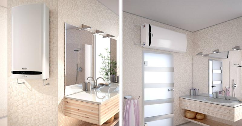 Los termos eléctricos BelliSlimo pueden ser instalados en vertical o en horizontal.