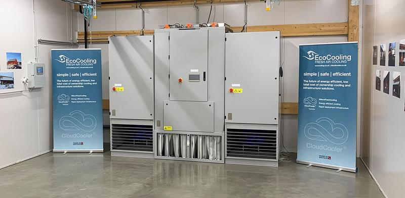 El prototipo de centro de datos ecológico utiliza un sistema de refrigeración eficiente.